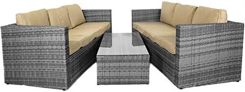 SOLIEL Mónaco grande sofá conjunto con almacenamiento cuadro ...