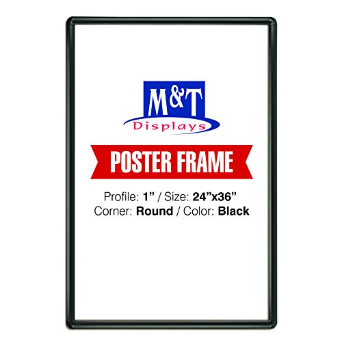 "DisplaysMarket Snap Frame 24x36 1"" Black Color Profile, Roun"