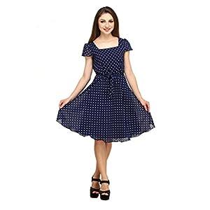 COLOR FUEL Women's Knee Length Dress