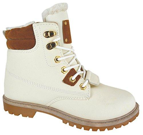 Pour Semelle Cheville Taille 3 Support Hiver Eyes White Fourrure Avec Toes Chaussures Bottes Grip On Armée Doublure Femme En Combat vxwpB