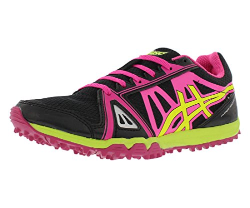 ASICS Women's Hyper Rocketgirl XC Spike Shoe, Black/Hot Pink/Flash Yellow, 8.5 M...