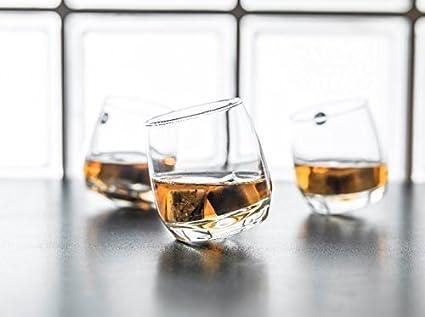 Tondo Rotondo Bicchiere Senza Fondo.Gravidus 6 X Bicchieri Da Whisky Fondo Sferico 200 Ml