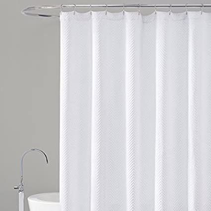 LaMont Home Chevron Shower Curtain 72x84 White