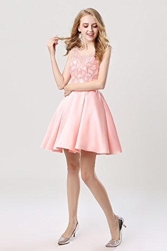 A Gown Lx439 Beading Juniors Ball Short pink Dress Line House Homecoming for s Belle Women Prom wOzn4p