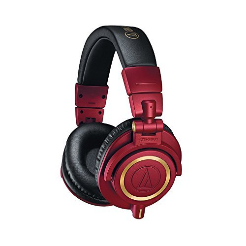 Audio-Technica ATH-M50xRD Professional Studio Headphones -INCLUDES- Antlion Audio ModMic 4 Uni-Directional Attachable Boom Mic w/ Mute Switch + Y Splitter - LIMITED EDITION GAMING BUNDLE by blucoil (Image #2)