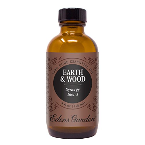 Earth & Wood Synergy Blend Essential Oil by Edens Garden- 4 oz (120 ml) (Cedarwood, Patchouli, Cedarwood, Vetiver, Vanilla, and Damiana)