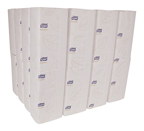 Tork Premium MB572 Soft Xpress Multifold Paper Hand Towel, 4-Panel, 2-Ply, 9.125'' Width x 3.625'' Length, White (Case of 32 Packs, 94 per Pack, 3,008 Towels) by Tork (Image #1)