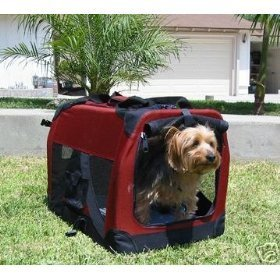 30″ Ideal Soft Side Foldable Pet Crate/Carrier for Travel, Indoor and Outdoor