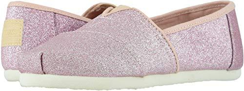 TOMS Kids Girl's Alpargata (Little Kid/Big Kid) Ballet Pink Glitter 3 M US Little Kid -