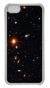 Galaxy Space Universe Star Polycarbonate Hard Case Cover for iPhone 5C Transparent