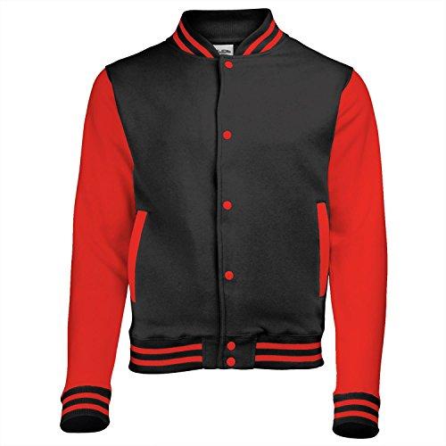 AWDis Hoods Kids Varsity Jacket - 15 Colours - Age 3- - Jet