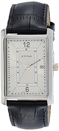 Titan Edge (Titan Men's 'Neo' Quartz Metal and Leather Watch, Color:Black (Model: 1697SL01))