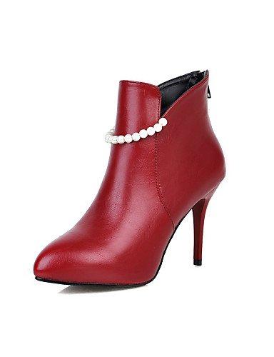 Y De Semicuero Vestido us8 Rojo Cn34 La Tacón us5 Botas Black Xzz Noche Mujer Fiesta Red Uk3 Negro Moda Cn39 Blanco Stiletto Eu35 Eu39 Uk6 Zapatos A 5OwAqzwP