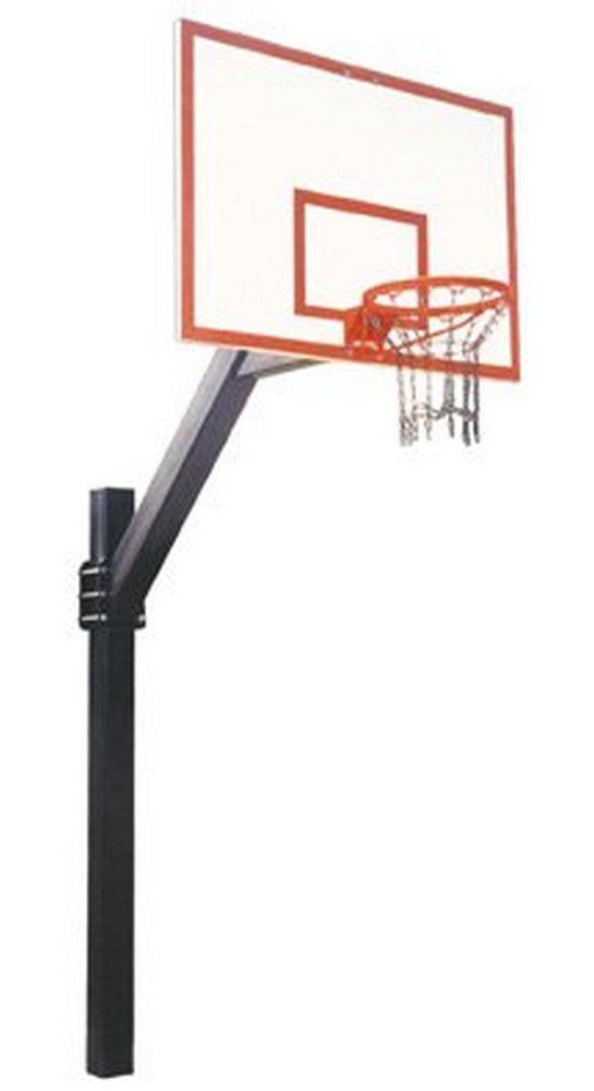 最初チームLegend Dynasty steel-fiberglass in ground固定高さバスケットボールsystem44 ;スカーレット B01HC0DJ0S