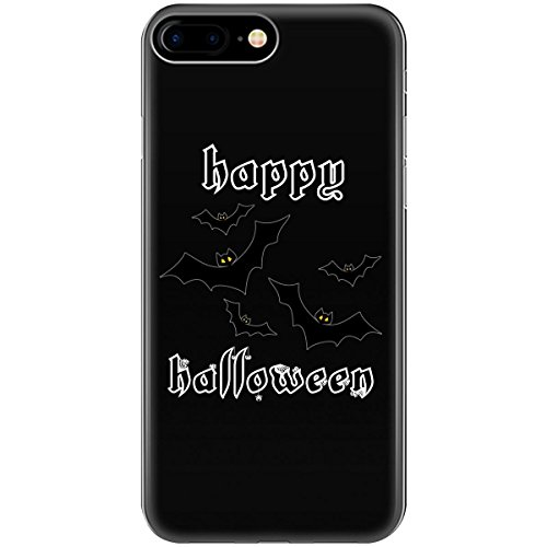 Happy Halloween Bats Outline White - Phone Case Fits Iphone 6, 6s, 7, -