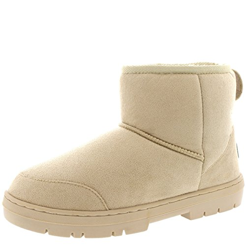 Womens Original Mini Classic Waterproof Winter Rain Snow Boots Beige RHXmr