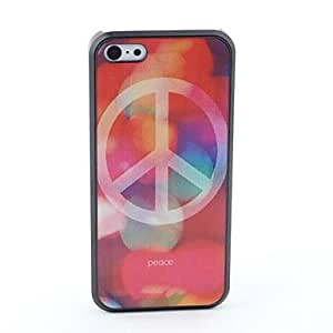 JAJAY Peace Style Protective Back Case for iPhone 5C
