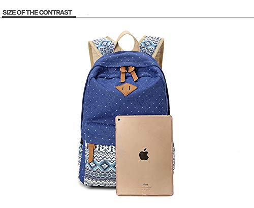 School Zaino High Women Khaki Borsa studentesca Casual Canvas Dreneco Junior Stampa q8wtOAxt