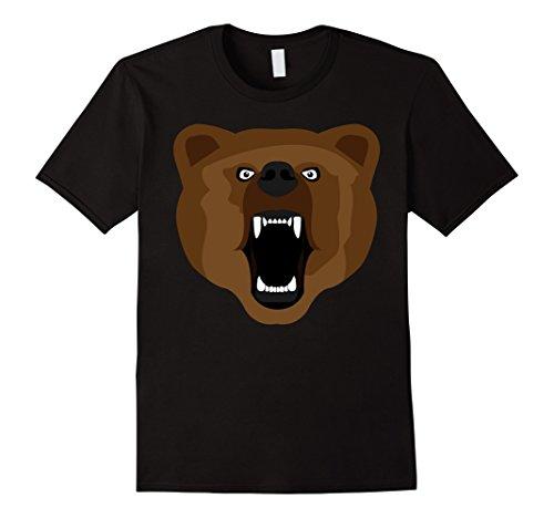 Cute Kid Halloween Costumes Ideas (Mens Bear Face T-Shirt Cute Funny Kids Halloween Costume & Adults XL Black)