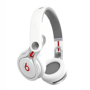 Beats by Dre Mixr High Definition Stereo Headphones w/Inline Remote & Mic - White - Open Box