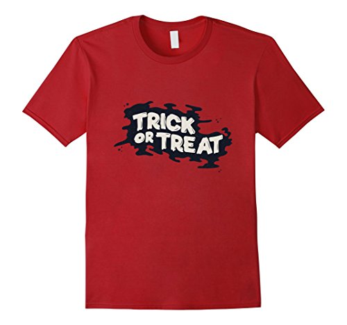 Mens Happy Halloween Trick or Treat 31 October 2017 Funny Tshirt XL Cranberry (Happy Halloween October 31 2017)