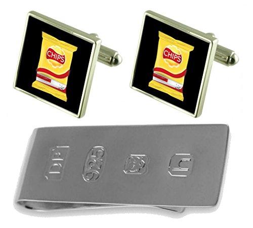 James Snack Clip Money Packet amp; Bond Cufflinks of Crisps nREXgH7