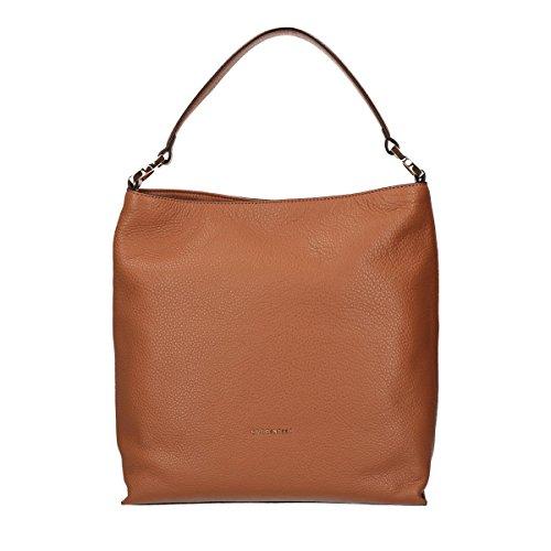 Leither Shoulder Brown Coccinelle Light Calf Bag Arlettis BpnqU1