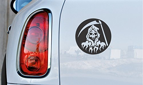 [Grim Reaper Scythe ver.1 Car Vinyl Sticker Decal Bumper Sticker for Auto, Cars, Trucks, Walls, Windows, and More.] (Scythe Halloween)