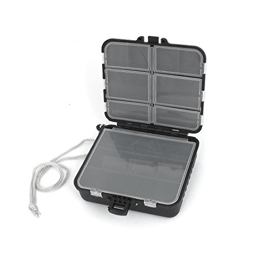 uxcell-Plastic-Detachable-19-Compartments-Fish-Lure-Jewelry-Storage-Case-Box
