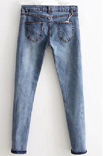 Aux Arrach Jeans Stretch Occasionnels Jean Femmes Cheville Utilisateurs Maigre Du blue Les cnqxACzc