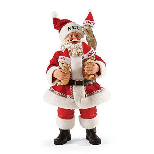 - Department 56 Possible Dreams Define Naughty Kitties Santa, 10 inch