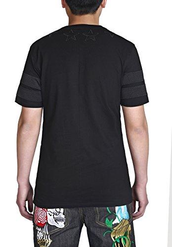 Pizoff Unisex Galaxy Universe Pattern T-shirt (XL, Y1279)