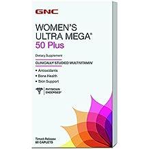 GNC Women's Ultra Mega 50 Plus Daily Multivitamin with Antioxidants for Bone & Skin Health - 60 Count