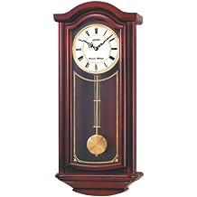 Seiko Wall Pendulum Clock Mahogany Finish Solid Wood Case