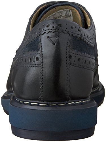 Clarks Mens Kenley Limit Oxford Scarpe Combo Blu Scuro