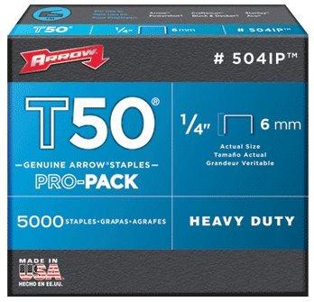 Arrow Fastener #504IP 5000PK T50 1/4 Staple