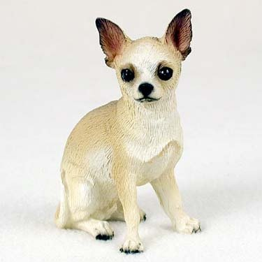Tan Chihuahua Figurine (Chihuahua Tan and White Standard Figurine)