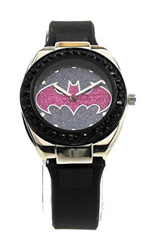 Batman Batgirl Pink Emblem Strap Watch (Bgl9009) -