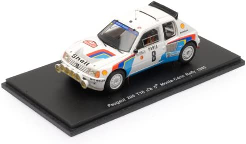 Peugeot 205 T16 85 5 Monte Carlo Rally in # 8 B.Saby / JFFau (1/43 S1269) (japan import)