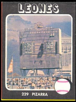 (1976 Made in Venezuela Stickers (Baseball) card#229 pizarra/scoreboard of the Caracas leones Grade Excellent to Excellent Mint)