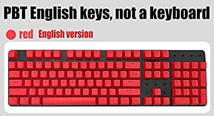 fd51f3056c9 Image Unavailable. Image not available for. Color: Russian/PBT English  Languag Keycaps Variety of Color Choices for Cherry MX Mechanical Keyboard  Key