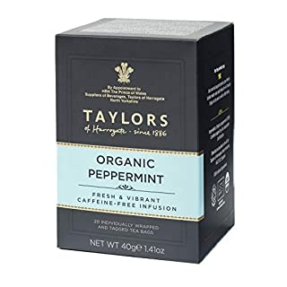 Taylors of Harrogate Organic Peppermint Herbal Tea, 20 Teabags