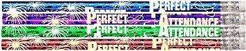 D1376G Perfect Attendance Glitz - 36 Attendance Award Pencils (Attendance Pencils)