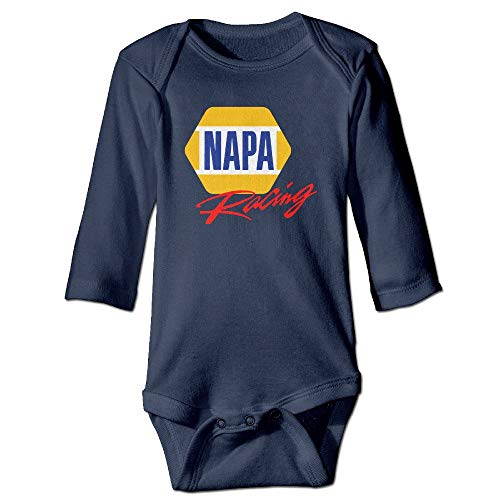 ZZHZMH NAPA AUTO Parts Chase Elliott Casual Round Neck Infant Baby Onesies Navy