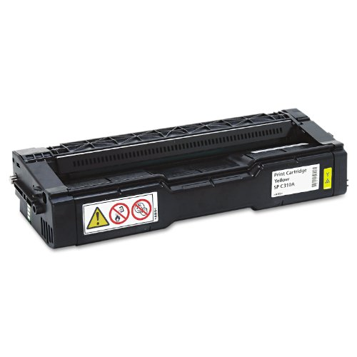 Ricoh 406347 406347 Toner, 2500 Page-Yield, Yellow, Office Central