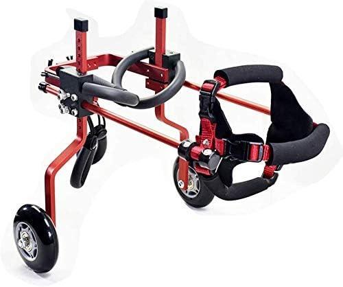 ペットトロリー、ペット車椅子スクーター無効無効麻痺後脚車アルミ合金ペット車の座席(色:ミディアム| B)を回復する簡単に調整可能
