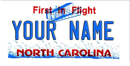 - BNS Personalized Bicycle/Toy Car/Wagon / Golf Cart License Plate Tag (North Carolina)
