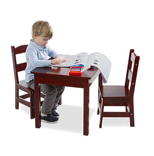 Melissa & Doug Table & Chair - Painted Espresso Children's Furniture