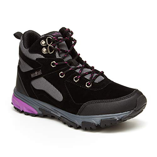 Goodyear Aurora Women's Hiking Boots, High Top; Hiking Boots for Women Black/Lavender