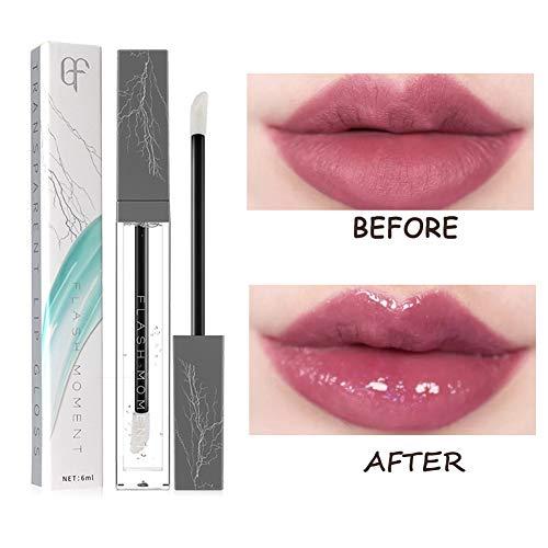 Turelifes Lip Plumper Gloss Natural with Vitamin E, Lip Plumping Balm Plumper Lipstick Treatment - Clear Lip Plump Gloss- Enhancer for Fuller & Hydrated Lips, Moisturize, Eliminate Dryness Wrinkles- -